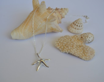 Sterling Silver Starfish Necklace | Beach Jewelry