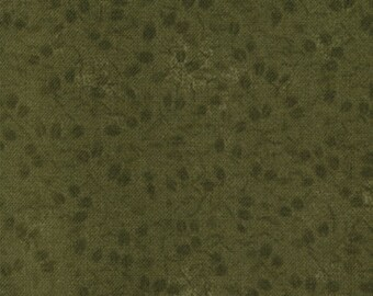 moda fabric by 1/2 yard Kansas Troubles Quilters Favorites Ii-small flowers on dark green tone on tone 9194-19