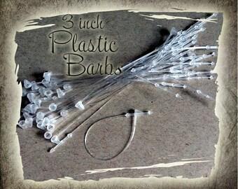 Plastic Barbs - Ties - Tag Fasteners - Label Holders - Clothing Tag Ties - Snap Together Ties