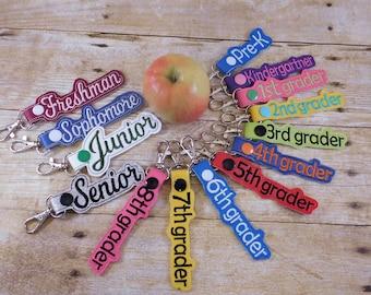 Custom Kids Bag Tag - Back to School Keychain - Back to School Gift Idea - First Day of School - School Keychain - Kids Backpack - Grad Gift