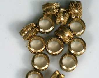 spacer bead 10 Pcs Raw Brass Cylinder 7x5 mm (hole 5 mm) industrial brass Charms,Pendant,Findings bab5 1448