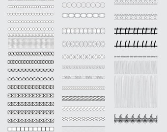 Brushes for applications and details of clothing for Illustrator