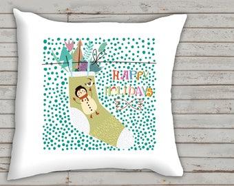christmas theme decorative pillow, nursery decoration, christmas decoration, baby gift, Christmas new baby gift,  throw pillow