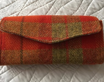 Harris Tweed Necessary Clutch Wallet with free postage & packaging within the UK