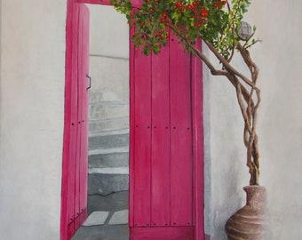SOLD - Door at Sporades III - Original acrylic painting