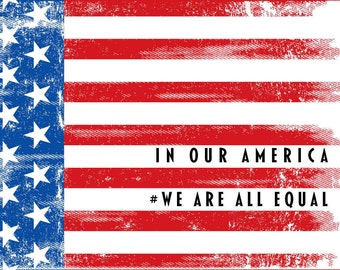 50 - In Our America, We Are All Equal Postcards