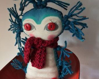 Willum the Worm Art Doll