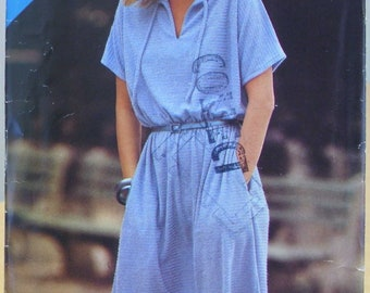 Butterick See & Sew 6944 easy dress sewing pattern S M L UNCUT