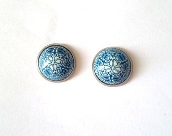 Stud Earrings, Polymer Clay Earrings, Kaleidoscope Earrings, Polymer Clay Studs
