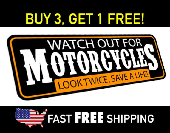 Watch out for motorcycles motorcycle safety bumper sticker