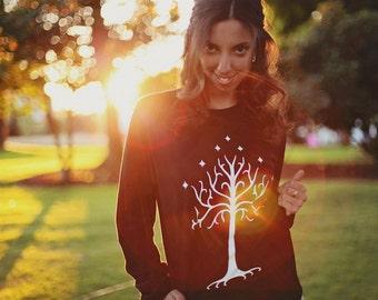 White Tree Sweatshirt - by So Effing Cute