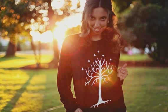 White Tree Sweatshirt - by So Effing Cute wMY8O4