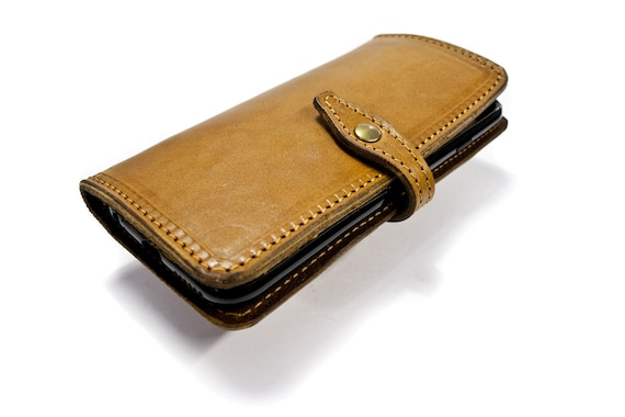 iPhone Leather Case Flip Wallet Bifold Style for iPhone X 8 7 or 8 7 Plus 6S or 6S PLUS iPhone 5S iPhone 5 CHOOSE Device and Color