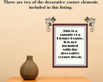 Scroll Element Embellishment 101 Picture Accent Doorway ... Vinyl Wall Decal Sharp Art Deco