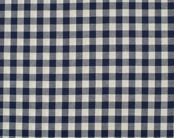 Marine5mm blue gingham fabric 100% cotton