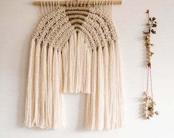 Contemporany Macrame wallart Inspired by the Mexican Sunset by Belen Senra