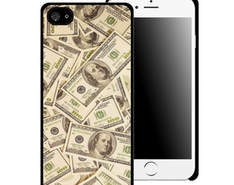 Hundred Dollar Bills Printed Cell Phone Case/ iphone 5/5s / iphone 6/6s and 6+ / Money / Teen / Tween / Gift Idea / 100 Dollar / Cash / Rich