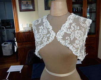 French Lace Bridal Shrug
