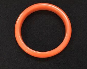 Bakelite Pumpkin Orange Bangle