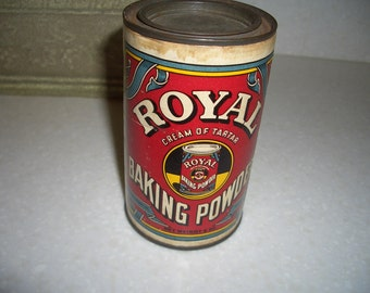 Vintage Can of Royal Cream of Tartar Baking Powder---Standard Brands Inc.