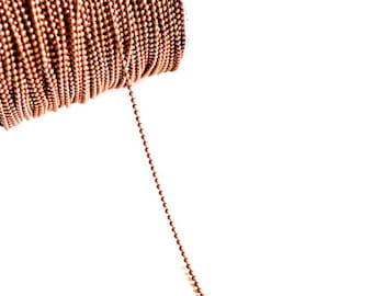 330ft Copper Ball Chain Spool - 2mm - 100M - Lead & Nickel FREE - Ships IMMEDIATELY - CH682