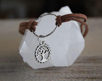 Tree of Life Suede Bracelet