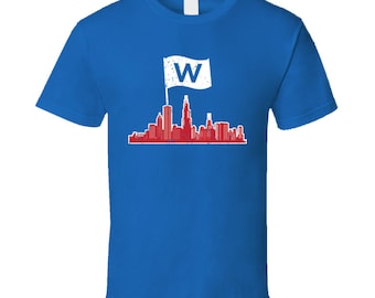Chicago Cubs Baseball Flying the W