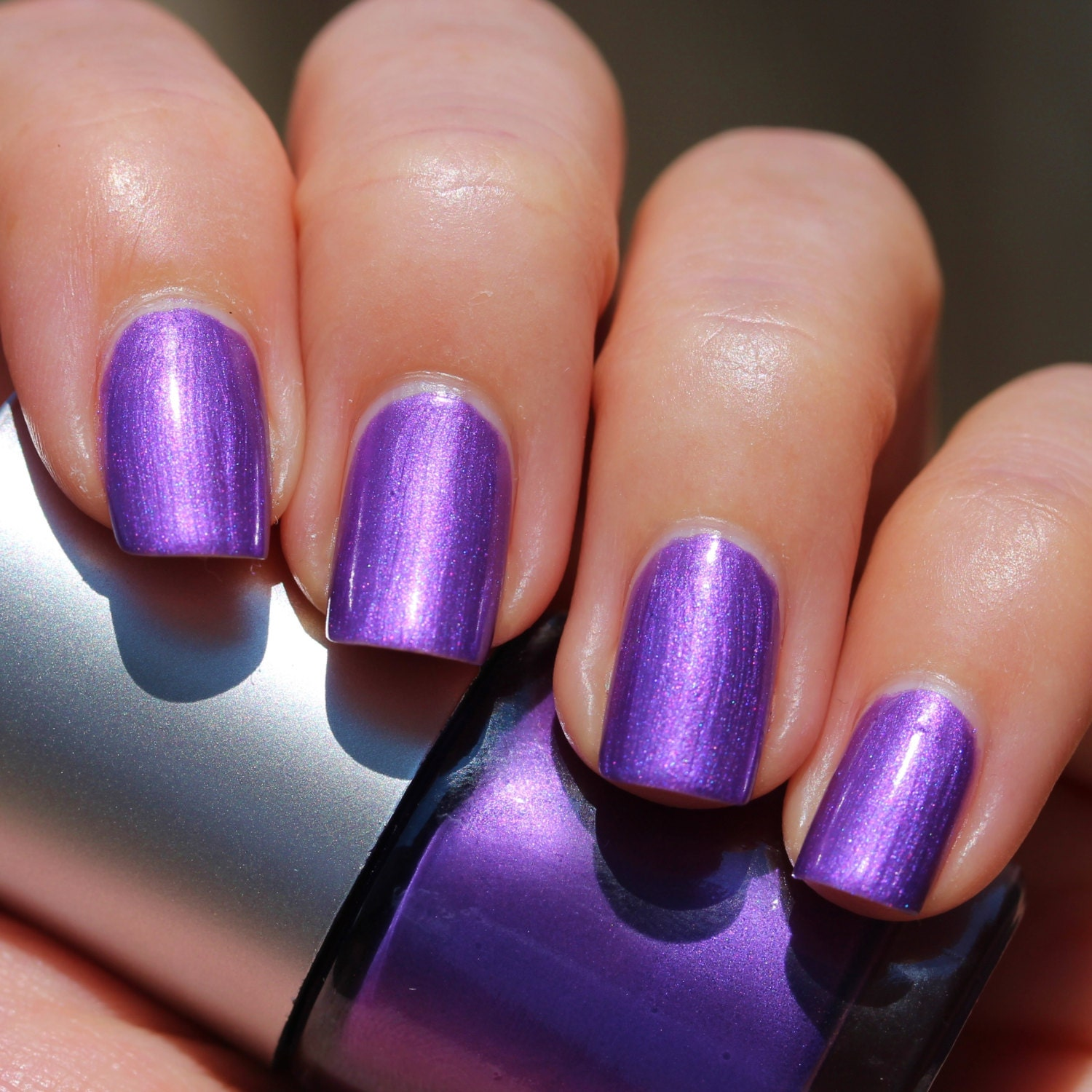 Urchin Franken Nail Polish Bright purple color with pink