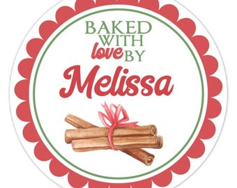 Baked with Love Labels, Made For You Stickers, Personalized Labels, From The Kitchen Stickers