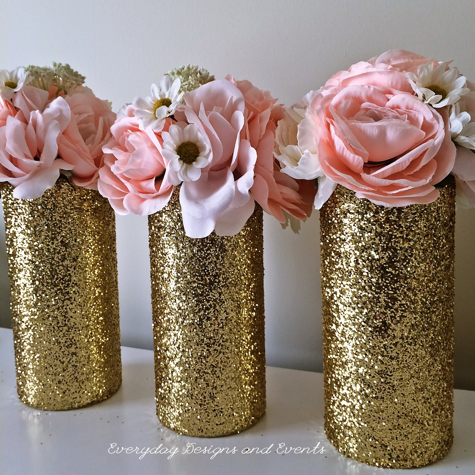 3 gold wedding centerpiece wedding decorations gold glitter zoom reviewsmspy