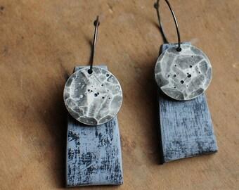 Lunar kinetic dangle earrings