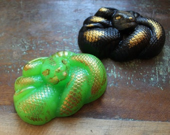 PYTHON SNAKE SOAP, Snake Soap for Him, Python Soap, Father's Day Soap, Custom Colored, Custom Scented, Novelty Soap, Reptile Soap, Mens Soap