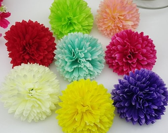 Silk flower heads wholesale silk roses heads 100 flowers 10cm wholesale silk flower silk chrysanthemum 100 flower heads bulk 5cm for background flower corsages kissing balls mightylinksfo