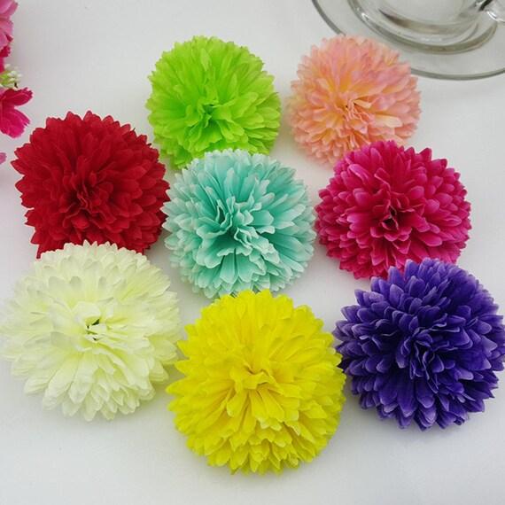 Wholesale silk flower silk chrysanthemum 100 flower heads bulk like this item mightylinksfo