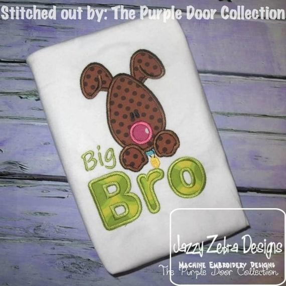 Big Bro Dog Appliqué embroidery Design - dog Appliqué Design - brother Appliqué Design - bro Appliqué Design - puppy Applique Design