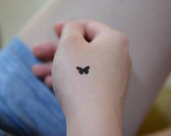 Temporary Tiny Tattoos. Tiny Butterfly | Set of 10