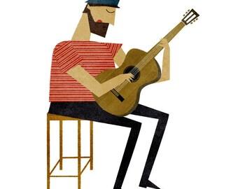 Guitarist print