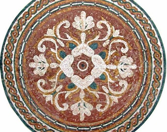Round Floral Mosaic - Florentina