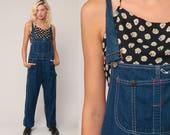 Denim Overalls Pants Jeans 80s Denim Bib Overalls Pants Baggy Big Mac Overalls Blue Long Jean Dungarees Hipster Vintage Medium Large