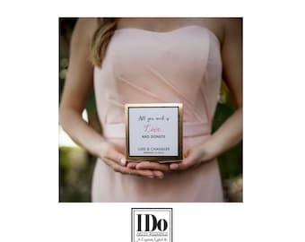 Donut Box Sticker - Sticker for Wedding Boxes - Custom Donut Sticker -  Wedding Favor Stickers