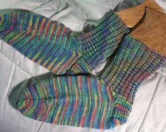 Ladies Hand Knit Wool Socks Size 6-8