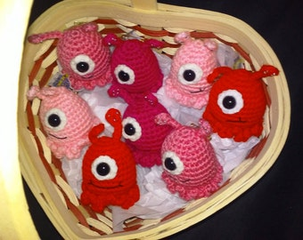 Valentine's Edition of the Super Cute Little One-Eyed Alien Slugs...Party Favor...Game Markers   (Each)