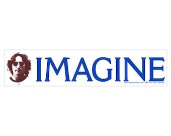 Imagine - John Lennon - Bumper Sticker / Decal or Magnet