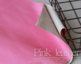 Pink Leather Fabric, A Yard 140cm x 90cm, U1741