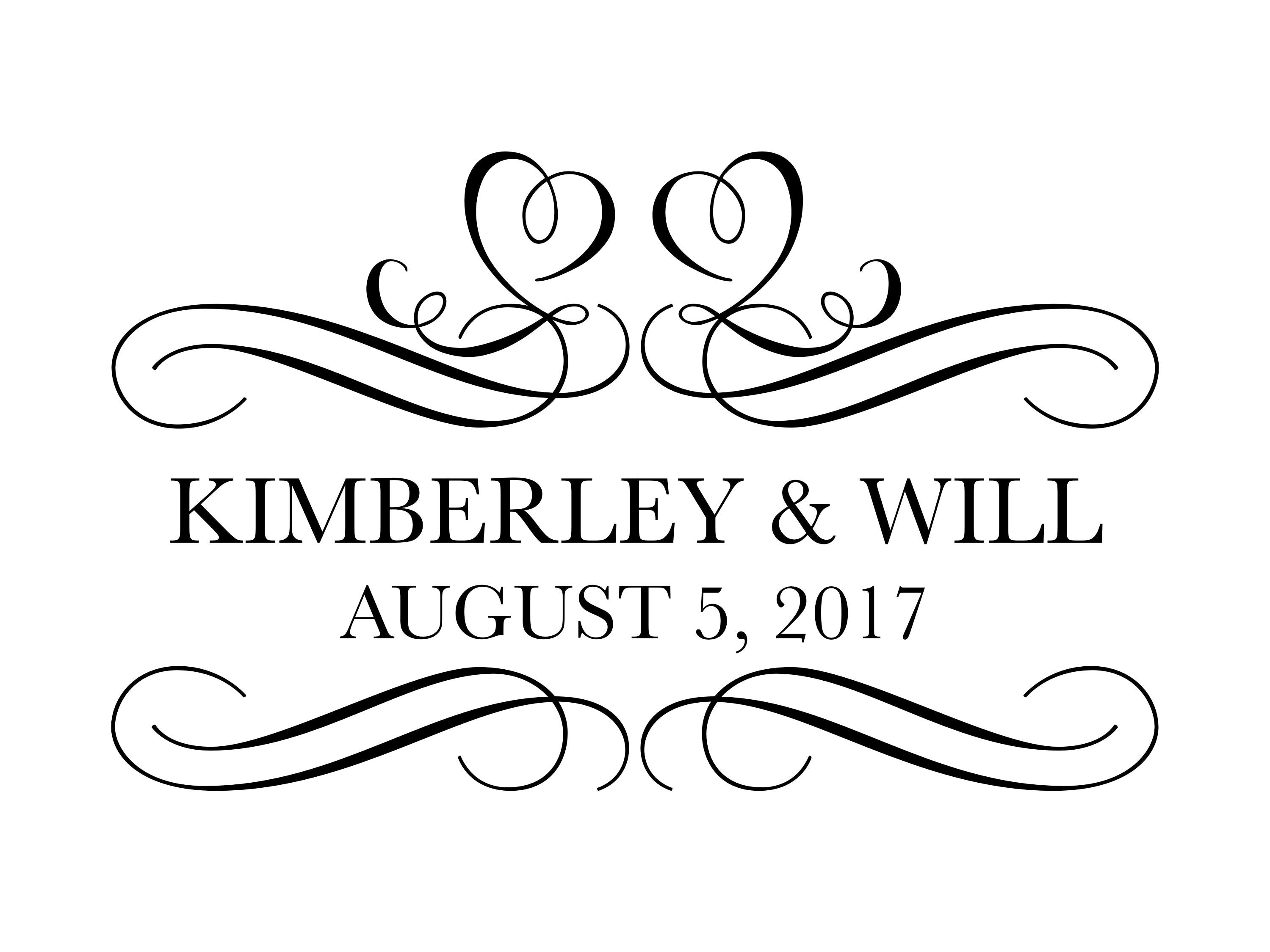 Custom Designed Digital Wedding Monogram Design Wedding Logo
