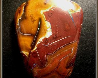 Koroit Boulder Opal cabochon, 34x27x6 mm, 58.90 ct.