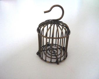 Bronze #2 - bronze colored metal Cage pendant