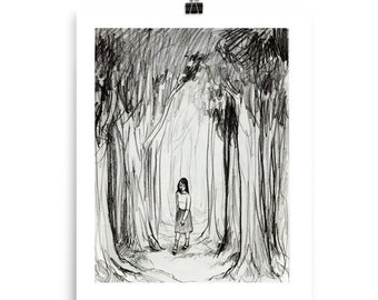 In The Woods Print By Amy Abshier