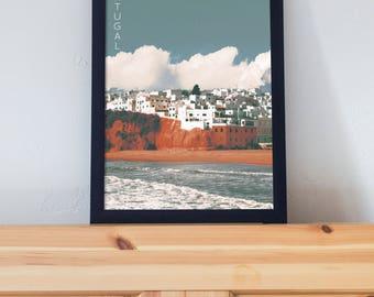 Fisherman's Beach, Portugal Poster 11x17 18x24 24x36