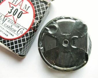 H & M 300 nylon typewriter ribbon for Royal Standard and Electric. Black No. 40.  Vintage office. Desk accessory